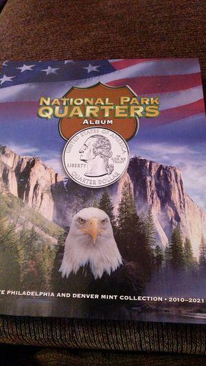 National parks quarters Whitman album for Sale in Bangor, ME