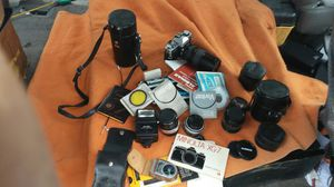 minolta xg7 camera with lots of stuff for Sale in Long Beach, CA