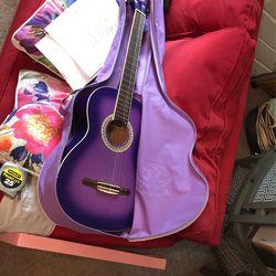 Purple Acoustic Guitar for Sale in Lutz,  FL
