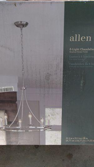 6 light chandelier for Sale in Bakersfield, CA