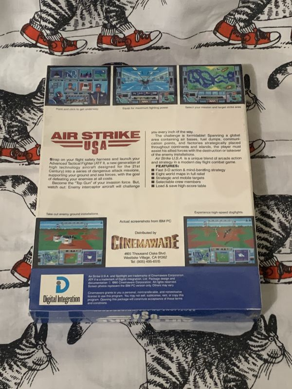 Air Strike USA Vintage pc Game Collectible Cinemaware Unopened