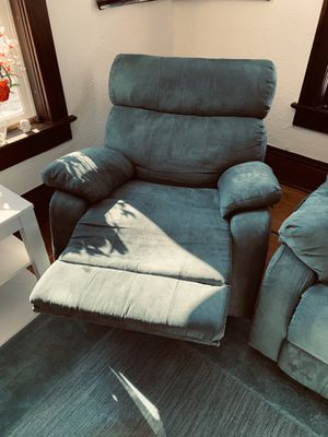 3 Teal suede recliners for Sale in Eau Claire, WI