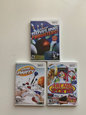 Wii best party and arcade games for Sale in Phoenix, AZ