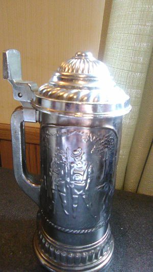 Smoked Metallic And Glass Beer Stein for Sale in Inverness, FL