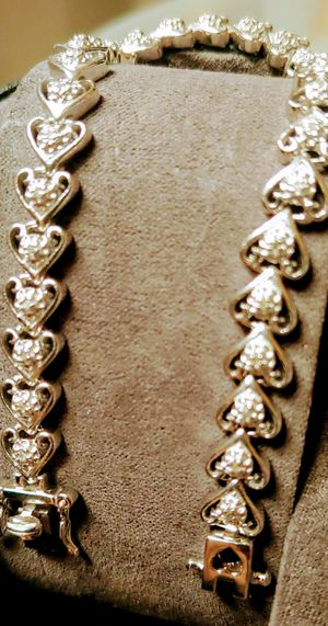Solid 14k gold diamond bracelet for Sale in Vidor, TX