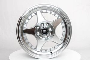 New 15 inch 4 lug MST wheels 5 spoke for Sale in Moreno Valley, CA