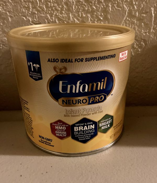 Enfamil infant and 8oz can