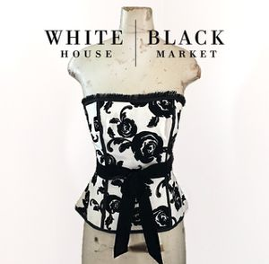 dc6087fb979 White House Black Market Bustier Corset Velvet Tie Top for Sale in La  Habra
