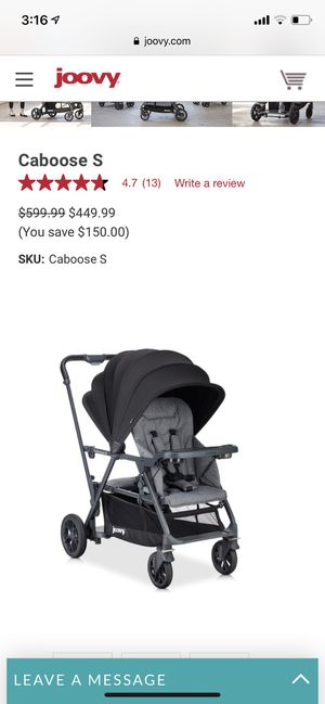 Joovy caboose ultralight double stroller for Sale in North Arlington, NJ