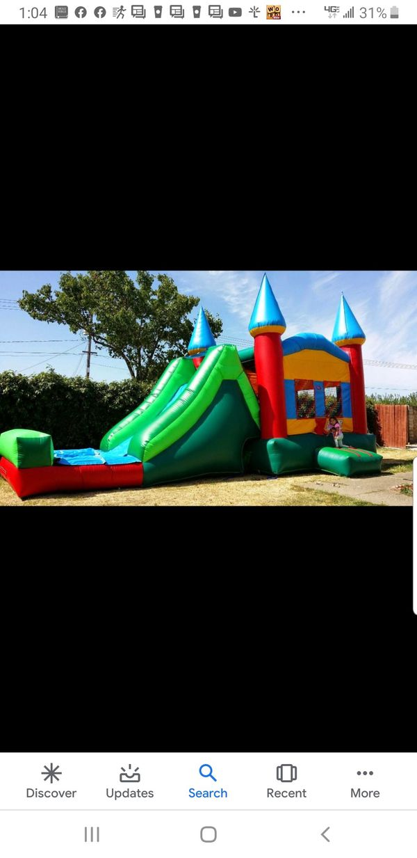 water slides, jumper and boxing ring for sale
