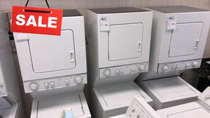 FIRST COME!!Stackable Washer Electric Dryer Set Whirlpool 220v #1535 for Sale in Silver Spring, MD