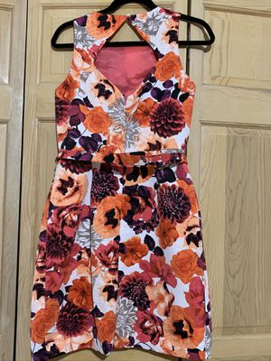 Floral Dress with Belt & Pockets for Sale in West Chicago, IL