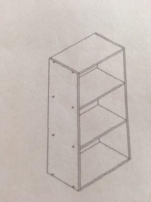 Small three cube shelf blonde wood for Sale in Santa Susana, CA