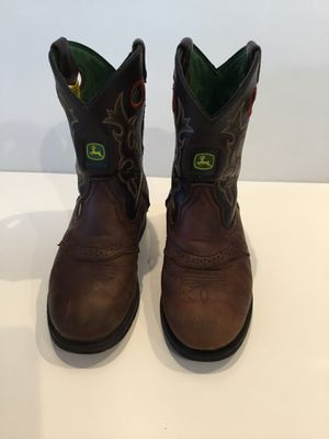 John Deere Leather Youth Boots Size 3.5 for Sale in Horseshoe Beach, FL