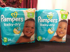 Pampers size 5 for Sale in Norfolk, VA