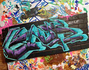 Custom graffiti art on mini brick walls and logo design for Sale in Phoenix, AZ
