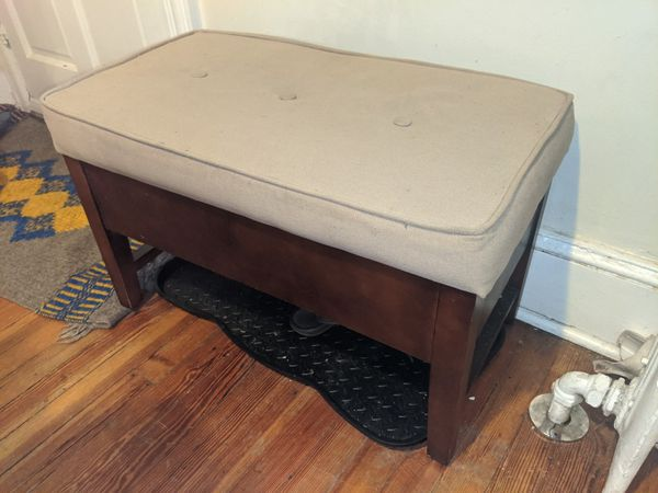 Padded entry bench seat