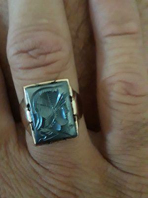 Gold Mens Hematite Intaglio Warrior ring for Sale in Canton, MI