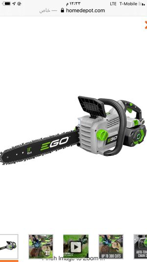 18 in. 56-Volt Lithium-Ion Cordless Electric Chainsaw, 5.0 Ah Battery and Charger Included for Sale in Bedford Park, IL