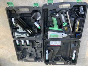 Hitachi Metabo, nail guns. Framing finish nailer nail gun for Sale in Anaheim, CA