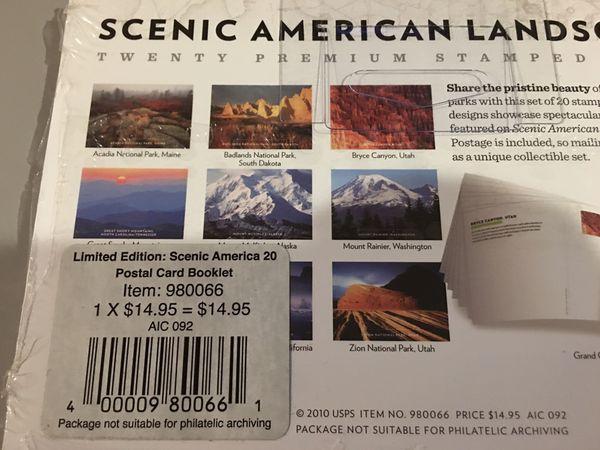 Scenic American Landscapes Complete Booklet Set Of 20 Cards-UX601-UX610 -Sealed