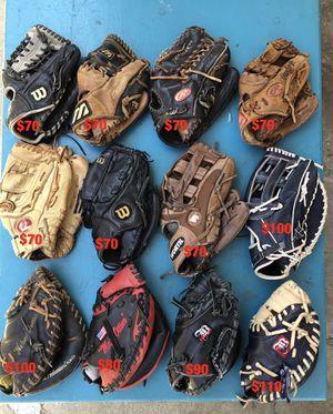Baseball gloves equipment Rawlings easton Rolin Wilson mizuno nokona bats equipment for Sale in Los Angeles, CA