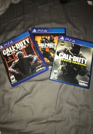 Call of Duty (Black ops 3, Black ops 4, infinity war) for Sale in Lakewood, CA
