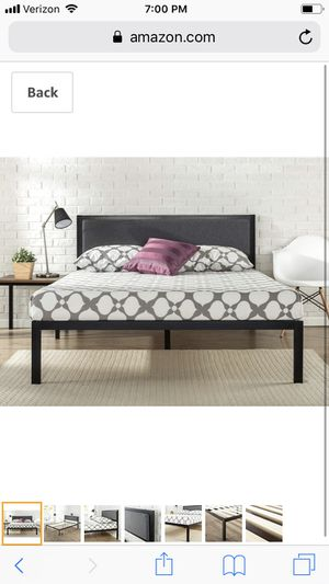 Metal Upholstered Full Size Bed Frame for Sale in Queen Creek, AZ
