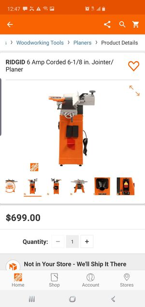 RIDGID 6 Amp Corded 6-1/8 in. Jointer/Planer for Sale in Lawrenceville, GA