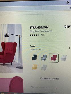 IKEA wingback Chair With Ottoman for Sale in Auburn,  WA