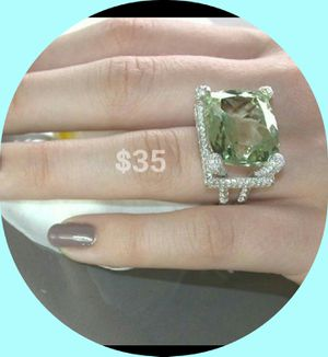 925 SILVER ELEGANT RING With SAPPHIRE STONE, SIZE 6 and 8 (BRAND NEW) for Sale in Brandon, FL