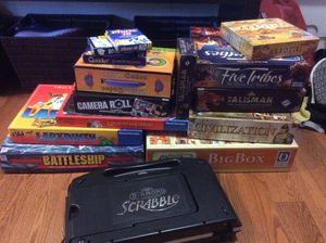 12 Family and euro style board games. Includes civilization,, five tribes, (talisman has been sold) for Sale in Fairfax, VA
