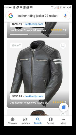92 rocket leather riding jacket for Sale in Sugar Creek, MO