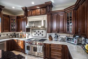 Dark Wood Kitchen Cabinets for Sale in Cleveland, OH