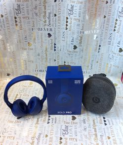 Beats Solo Pro Bluetooth Wireless On-Ear Headphones - Noise Canceling- Blue for Sale in New York,  NY