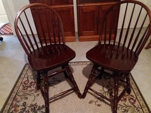 """Chairs, Swivel Counter Height 24"""", Dark Cherry Finish for Sale in St. Louis, MO"""