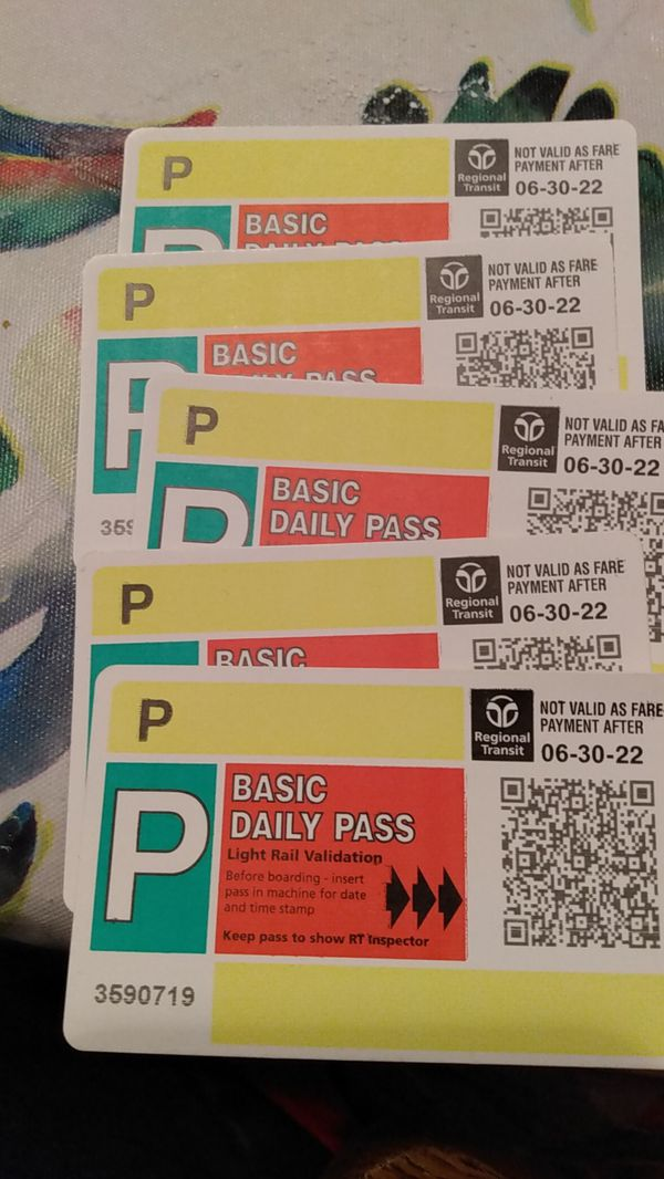 5 All day bus passes