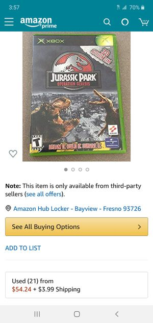 Jurassic Park Operation Genesis for Sale in Fresno, CA