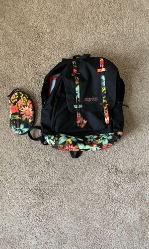 Jansport Floral Backpack with pouch for Sale in Chandler, AZ