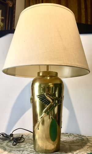 CASH PICK UP $30 Beautiful solid quality brass accent desk lamp H29xW7/18 inch for Sale in Chandler, AZ