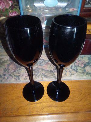 Mikasa Elegant Black Wine Glasses for Sale in Vallejo, CA