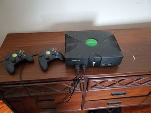 Xbox with two controllers for Sale in Providence, RI