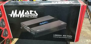 MMATS pro audio ls800x4 800 watts 4ch stereo mosfet amp Almost gone $179.99 for Sale in Opa-locka, FL