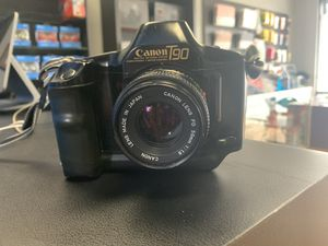 Canon T90 SLR 35mm Film Camera with 50mm f1.8 FD Lens for Sale in Lakewood, CA