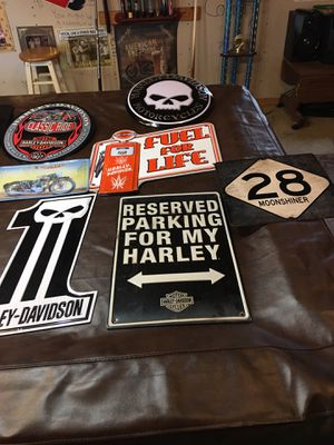 Motor cycle signs and road signs for Sale in Valdosta, GA