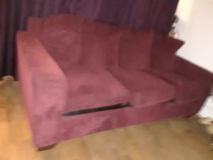 Red velvet couch for Sale in San Jose, CA