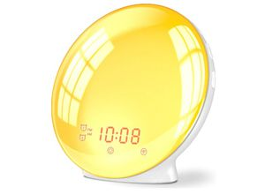 Wake Up Light Alarm Clock, Burbupps Kids Night Light Compatible with Alexa & Google Home, 7 Colored Sunrise Simulation and Sunset Fading for Sale in Rancho Cucamonga, CA