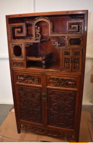 19c Handcarved Chinese Cabinet for Sale in Temecula, CA
