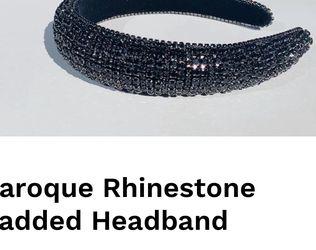 Baroque Rhinestone Padded Headband for Sale in Chicago,  IL