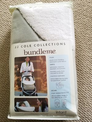 Brand new in package JJ Cole bundle me infant cozy wrap for car seat, stroller. Light sage color so can be used for boy or girl for Sale in Renton, WA
